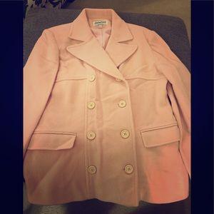 Pink Wool Pea Coat